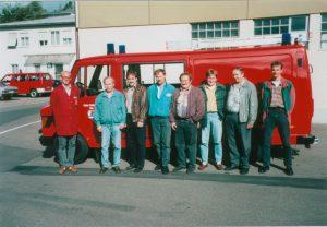 v.l. Mitarbeiter der Fa. Ziegler, Martin Meier, Jürgen Hierl, Albert Gatzhammer, Georg Mirbeth, Thomas Bauer, Fritz Laßleben, Bernhard Geß